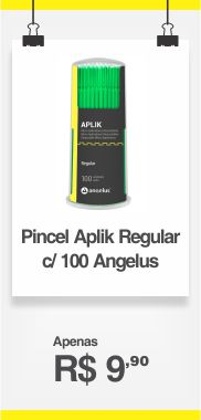 PINCEL DESC APLIK REGULAR VERDE C/100 ANGELUS *3